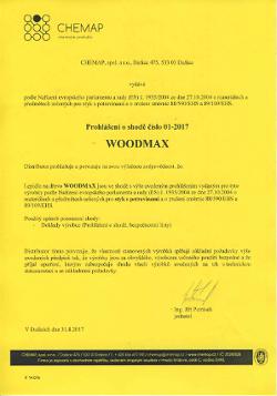 Prohlášení WOODMAX